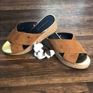 Tommy Hilfiger cork wedges LIKE NEW